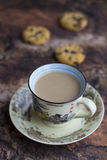 Hot milk coffee Stock Photos
