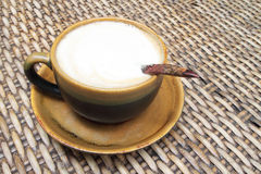 Hot milk coffee Stock Photography