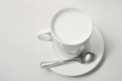 Hot milk cup Royalty Free Stock Images