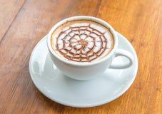 Hot milk  latte art coffee Royalty Free Stock Photo