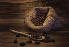 Hot milk  Latte coffee on wooden Royalty Free Stock Photo