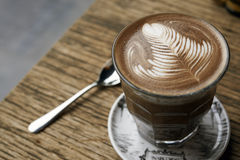 Free Hot Mocha On Wooden Table Stock Photos - 33721573