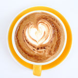 Hot mocha on table. In the coffee shop Stock Images