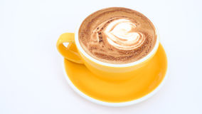 Hot mocha on table. In the coffee shop Stock Photo