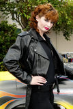 Hot Model in Leather Jacket Royalty Free Stock Images