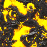 Hot molten lava. A 3d illustration of some hot flowing lava Stock Photography