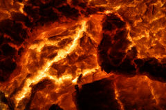 Hot Molten Lava 4. The cracking crust of a hot flow of magma Royalty Free Stock Image