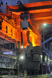 Hot molten steel Royalty Free Stock Photo