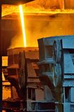 Hot molten steel transportation royalty free stock photos