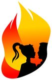 Hot mood. Illustrated silhouette image Royalty Free Stock Images