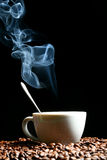 Hot morning coffee Stock Image
