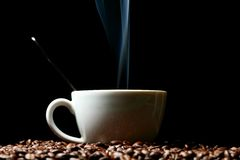 Hot morning coffee Stock Photography