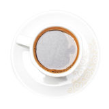 Hot morning coffee mug isolated on the white background Stock Photo