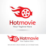 Hot Movie Template Design Vector. This design suitable for logo or icon Stock Photography