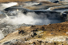 Hot mud in Namafjall. Hot mud Pots in the geothermal area Namafjall, Iceland royalty free stock image