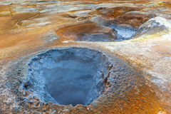Hot Mud Pots in the Geothermal Area Hverir, Iceland