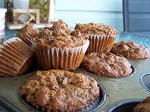 Hot muffins outdoors Royalty Free Stock Image