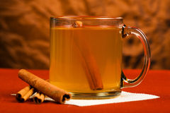 Hot Mulled Apple Cider stock photos