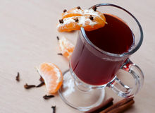 Hot mulled red wine Stock Photos
