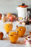 Hot Mulled Spiced Apple Cider Stock Images