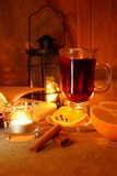 Hot mulled wine in the cup Royalty Free Stock Photography