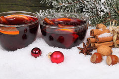 Hot mulled wine Stock Photo