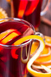 Hot mulled wine Royalty Free Stock Images