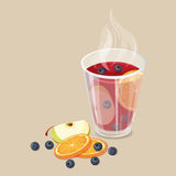 Hot mulled wine Royalty Free Stock Photo