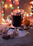 Hot mulled wine Stock Images
