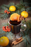 Hot mulled wine, winter  drink Royalty Free Stock Photo