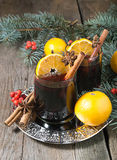 Hot mulled wine, winter  drink Stock Images