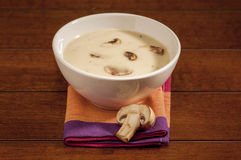 Hot Mushroom soup Stock Photos