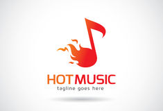 Hot Music Logo Template Design Vector, Emblem, Design Concept, Creative Symbol, Icon Royalty Free Stock Photography