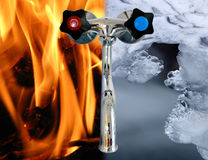 Hot nad cold tap Stock Image
