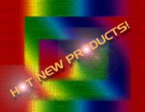 Hot new products. Banner Vector Illustration