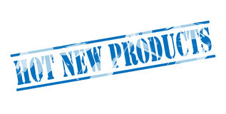 Hot New products blue stamp. Isolated on white background Royalty Free Stock Image