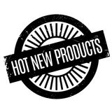 Hot New Products rubber stamp. Grunge design with dust scratches. Effects can be easily removed for a clean, crisp look. Color is easily changed Royalty Free Stock Images