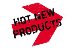 Hot New Products rubber stamp Royalty Free Stock Photography