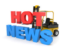 Hot news Stock Photo