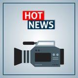 Hot news Stock Photography