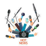 Hot news concept Royalty Free Stock Images