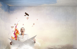 Hot news. Concept image Stock Photography