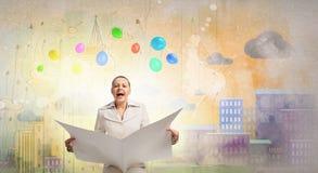 Hot news. Concept image Royalty Free Stock Photos