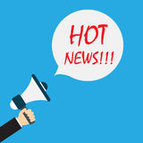 Hot news icon. Vector illustration in flat style Royalty Free Stock Photography