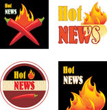 Hot news. Icons for design. Illustration Stock Photo