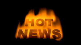 Hot news Royalty Free Stock Photography