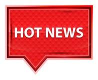 Hot News misty rose pink banner button. Hot News Isolated on misty rose pink banner button stock illustration