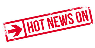 Hot News On rubber stamp Stock Image