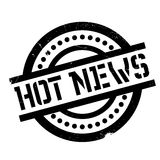 Hot News rubber stamp Stock Image