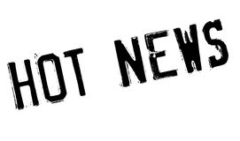 Hot News rubber stamp Royalty Free Stock Photography